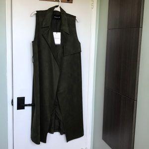 Who what wear dark green trench vest
